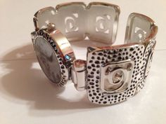 New Geneva Silver Bangle Cuff Watch #Geneva #Fashion