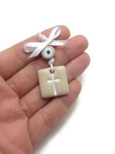 Baptism Favors Witness Pins Baby Boy Favors Baby by JosCreationsGR Baby Baptism, Christening, Baby Boy Favors, Wedding Cross, Baptism Favors, Baptisms, White Crosses, Salt Dough, Clay Ideas