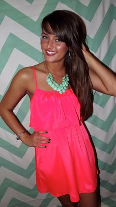 Hot pink and mint is a great color combination