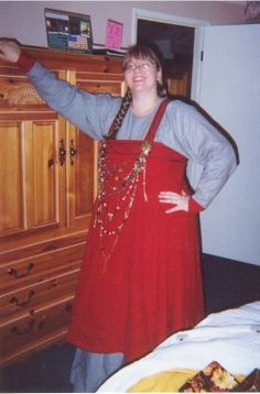 """Vigdis' Viking Apron Dress orvHow I became a """"Viking Chick""""...conjecturally period... please note that this is not a documentably period pattern, but is is SCA-compatible"""
