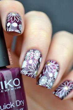 fleurs prunes patinées