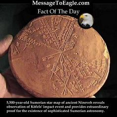 Ancient History Fact: 5,500-Year-Old Sumerian Star Map Of Ancient Nineveh Reveals Observation Of Köfels' Impact Event