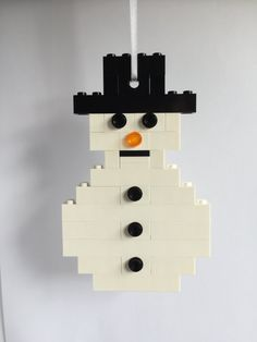 LEGO Snowman Christmas Decoration Christmas Ornament by OurBrickLibrary on Etsy