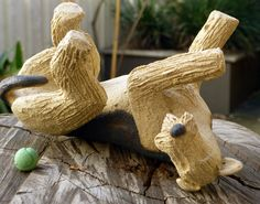 Airedale Terrier Ceramic Dog Sculpture by Wendy Hodgson