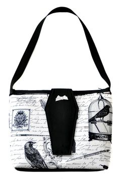 Ravens & Poetry Purse with Coffin Flap
