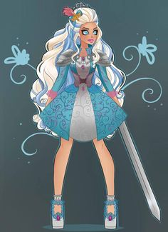 Dragon Games: Faybelle by AnkicaCicero on DeviantArt Kids Cartoon Characters, Cartoon Monsters, Cartoon Art, Royal Blue Hair, Princess Charming, Dragon Games, Gothic Anime, Fashion Illustration Sketches, Ever After High