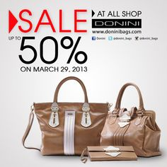 SALE up to 50% Ladies! At all shop only on March 29, 2013. So, GRAB IT FAST!