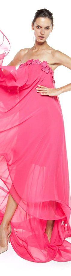 Christos Costarellos spring summer 2016 Pink Fashion, Colorful Fashion, Couture Fashion, Love Fashion, Fashion Models, Fashion Design, Pink Peacock, Everything Pink, Girly Girl