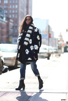 NYFW Day 4. Braving the Arctic Cold- Looks to Inspire: Gizele Oliveira on #ATPB