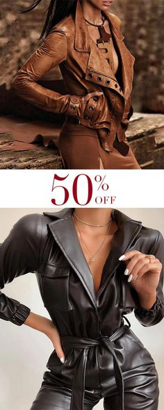 Leather Jackets, Street Fashion, Red Leather, Jumpsuit, Street Style, Projects, Outfits, Clothes, Collection