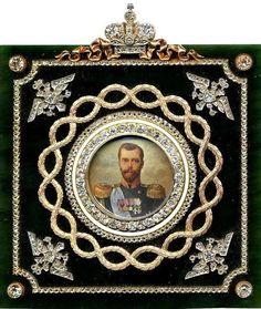 Fabergé Frame, portrait of Tsar Nicolas II Tsar Nicolas Ii, Tsar Nicholas, Ballet Russe, Faberge Jewelry, House Of Romanov, Art Nouveau, Miniature Portraits, Faberge Eggs, Imperial Russia