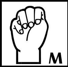M Sign Language Alphabet, American Sign Language, Peace, Signs, Shop Signs, Sobriety, Sign, World