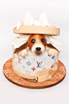 Hatbox Doggie Surprise - Cake by The Sweetery - by Diana