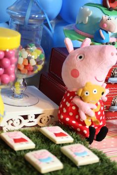 Adorable Peppa Pig Birthday Party Ideas!  See more party ideas at CatchMyParty.com!