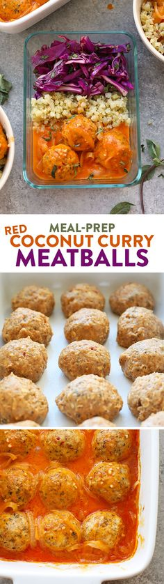 Add some flare to dinner this week with these Red Coconut Curry Meatballs with Cauliflower Rice. They are packed with protein and great for meal prep throughout the week.