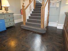 restored parquet flooring