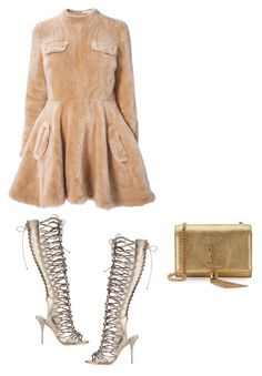 """Teddy bear"" by stylesbyangie ❤ liked on Polyvore featuring J.W. Anderson, Sophia Webster and Yves Saint Laurent"