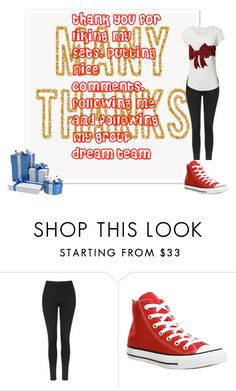 """""""thanks"""" by kitty-cat11 ❤ liked on Polyvore featuring Topshop, H&M and Converse"""