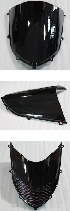 [Visit to Buy] Black Motorcycle Wind Deflectors Windshield Windscreen Double Bubble For Racer Bicycle Kawasaki Ninja ZX10R 2004 2005 04-05 #Advertisement