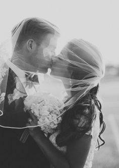 always love and under the veil kissing shot ~ we ❤ this! moncheribridals.com