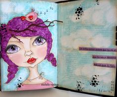Wood And Fabric art journal