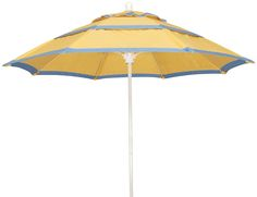 FiberBuilt Umbrellas and Cushions -The Market Umbrella  Available in 7.5ft,9ft & 11ft Octagon and 6ft & 7.5ft Square, Push Up, Pulley & Pin or Crank Lift, Made with Sunbrella Marine Grade Solution Dyed Acrylic Fabric.Picture Shows, Buttercup Yellow Fabric (4635) WITH ADDED BANDING & ADDITIONAL VENTS!! alexis@fiberbuiltumbrellas.com Market Umbrella, Yellow Fabric, Pulley, Buttercup, Umbrellas, Push Up, Cushions, Marketing