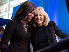 "Michelle Obama and Jill Biden Reflect on Friendship at Joining Forces Event: We're Family First Lady Michelle Obama counts Dr. Jill Biden as one of her ""dearest friends"""