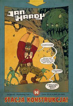 Jakub Kijuc - komiks, ilustracja: Jan Hardy - Stacja Konstrukcja