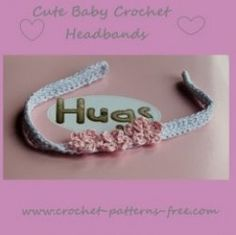 Free Crochet Patterns for Baby Headbands with Crochet Flowers. Crochet these delightful Baby Headbands so quick and easy yet so fashionable and Cute