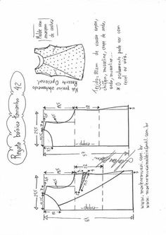 Blusa Regata simples com recorte   DIY - molde, corte e costura - Marlene Mukai