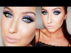 Bold & Blue Makeup Tutorial - YouTube. Wonderful way to incorporate color into a smoky eye and stray from traditional neutral looks. Jaclyn Hill is amazing.