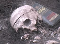"""Students learn forensic archaeology skills at gruesome """"crime scene"""" on campus."""