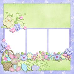 """Photo from album """"Easter Joy on Yandex. Baby Girl Scrapbook, Baby Scrapbook Pages, Kids Scrapbook, Scrapbook Layout Sketches, Scrapbook Designs, Scrapbooking Layouts, Scrapbook Letters, Scrapbook Cards, Frames Png"""