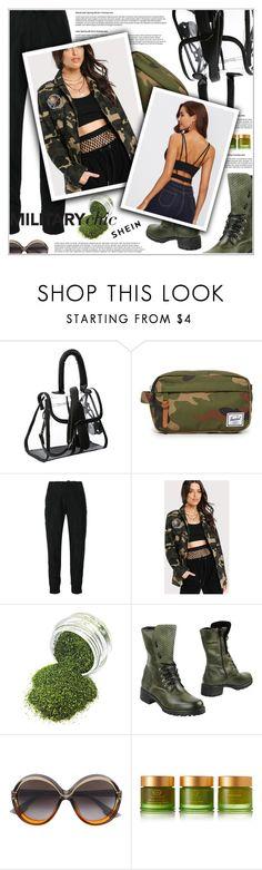 """Military Chic"" by shambala-379 ❤ liked on Polyvore featuring Herschel Supply Co., Yohji Yamamoto, Fabrizio Chini, Christian Dior and Tata Harper"