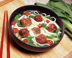 Aidells Teriyaki Meatballs with Udon Noodles