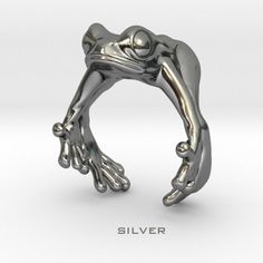 Finger Hugging Frog ( Detail of 3D printed product 'Frog Ring US9' )