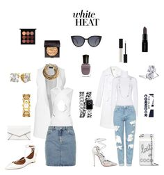 """Yes, I wear white after Labor Day!"" by theglamcorridor ❤ liked on Polyvore featuring LULUS, Christian Louboutin, Chanel, Balmain, Fendi, Smashbox, MAC Cosmetics, Deborah Lippmann, Laura Mercier and Aquazzura"