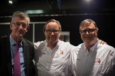 Director Paul Gelders, 3 Stars German Chef Thomas Buhner, President Frank Fol