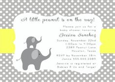 PRINTABLE Gray Yellow Elephants and Polka Dots by NotableAffairs, $12.00
