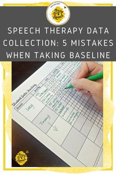 This is the ultimate guide to baseline mistakes! I always use baselines during therapy and I have created the perfect system!