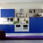 Kitchen Furniture set with blue color