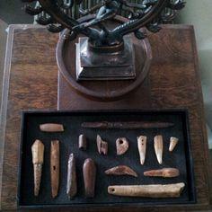 Inuit Eskimo bone & ivory. Collection of Stephen Parfitt, Springfield, Illinois.