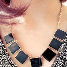 2014 moda atacado 2013 esmalte do vintage geometria cor sólida em forma de colar acessórios de moda feminina presentes frete grátis(China (Mainland))