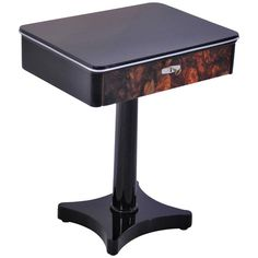 Art Deco Console Table with a Walnut Drawer | From a unique collection of antique and modern console tables at https://www.1stdibs.com/furniture/tables/console-tables/