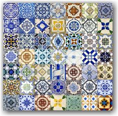 Azulejos de Portugal - Handmade tiles can be colour coordinated and customized re. shape, texture, pattern, etc. by ceramic design studios