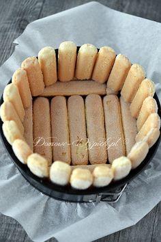 Charlotte z musem malinowym Polish Desserts, Polish Recipes, Cookie Desserts, No Bake Desserts, Macaron Cookies, Cake Cookies, Baking Recipes, Cake Recipes, Dessert Recipes