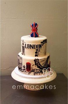Cake Wrecks Sunday Sweets: Around the World in 80 Days - London cake Pretty Cakes, Beautiful Cakes, Amazing Cakes, Cake Wrecks, Fondant Cakes, Cupcake Cakes, City Cake, London Cake, London Party