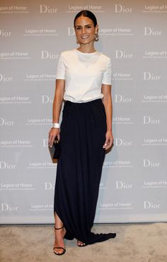 Jordana Brewster Photos - Actress Jordana Brewster attends the 2015 Mid-Winter Gala presented by Dior at Legion Of Honor on March 2015 in San Francisco, California. - Fine Arts Museums Of San Francisco 2015 Mid-Winter Gala Presented By Dior Looks Street Style, Looks Style, Style Me, Fashion Mode, Look Fashion, Womens Fashion, Mode Monochrome, Black And White Outfit, Black White