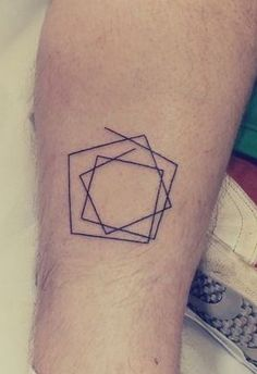 Minimalist Geometric Tattoo