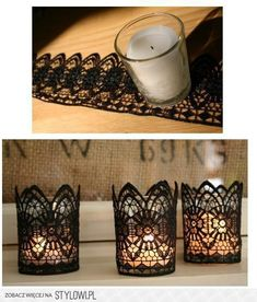 Lace Work Jar Candle